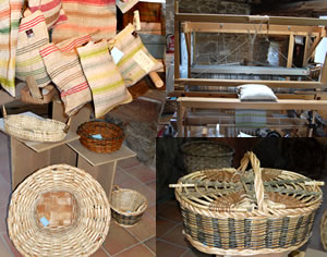 Hand made baskets & wooven fabrics